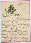 Clara to Mrs. Joel Randolph Adams. December 24, 1916. by Clara Unknown