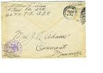 Allan Boyce Adams, F.A. U.S.R., U.S.P.O 718 American Expeditionary Forces, To Mrs. Joel Randolph Adams, Claremont, Mississippi. December 9, 1917. by Allan Boyce Adams