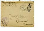 Allan Boyce Adams, F.A. U.S.R., U.S.P.O. 718 A.E.F., To Mrs. Joel Randolph Adams, Claremont, Mississippi. December 19, 1917. by Allan Boyce Adams