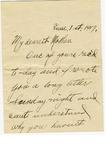 Allan Boyce Adams, Location Unknown, To Mrs. Joel Randolph Adams, Claremont, Mississippi, June 1, 1917. by Allan Boyce Adams