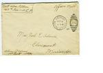 Allan Boyce Adams. F.A. U.S.R. 149th Regiment A.E.F., To Mrs. Joel Randolph Adams, Claremont, Mississippi. March 8, 1918.
