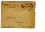 Allan Boyce Adams. F.A. U.S.R. 149th Regiment A.E.F., To Mrs. Joel Randolph Adams, Claremont, Mississippi. May 8, 1918. by Allan Boyce Adams