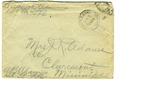 Allan Boyce Adams. F.A. U.S.R. 149th Regiment A.E.F., To Mrs. Joel Randolph Adams, Claremont, Mississippi. May 30, 1918. by Allan Boyce Adams