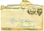 Allan Boyce Adams. F.A. U.S.R. 149th Regiment A.E.F., To Mrs. Joel Randolph Adams, Claremont, Mississippi. June 15, 1918.
