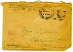 Allan Boyce Adams, F.A. U.S.R. 149th Regiment A.E.F., To Mrs. Joel Randolph Adams, Claremont, Mississippi. July 4, 1918.