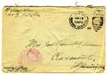 Allan Boyce Adams, F.A. U.S.R. 149th Regiment A.E.F., To Mrs. Joel Randolph Adams, Claremont, Mississippi. July 9, 1918.