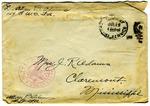 Allan Boyce Adams, F.A. U.S.R. 149th Regiment A.E.F., To Mrs. Joel Randolph Adams, Claremont, Mississippi. July 10, 1918.