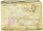 Allan Boyce Adams, F.A. U.S.R. 149th Regiment A.E.F., To Mrs. Joel Randolph Adams, Claremont, Mississippi. July 12, 1918.