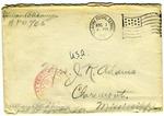 Allan Boyce Adams, F.A. Camp De Souge, A.P.O. 705, A.E.F., France to Mrs. Joel Randolph Adams, Claremont, Mississippi. July 26, 1918. by Allan Boyce Adams