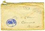 Allan Boyce Adams, F.A. Camp De Souge, A.P.O. 705, A.E.F., France to Mrs. Joel Randolph Adams, Claremont, Mississippi. August 27, 1918. by Allan Boyce Adams