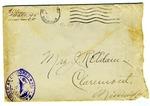 Allan Boyce Adams, F.A. Camp De Souge, A.P.O 705, American E.F., France to Mrs. Joel Randolph Adams, Claremont, Mississippi. November 29, 1918.