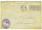 Allan Boyce Adams, F.A. Camp De Souge, A.P.O 705, American E.F., France to Mrs. Joel Randolph Adams, Claremont, Mississippi. December 5, 1918.