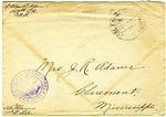 Allan Boyce Adams, F.A. Camp De Souge, A.P.O 705, American E.F., France to Mrs. Joel Randolph Adams, Claremont, Mississippi. December 17, 1918.