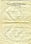 Allan Boyce Adams, Ringeu, Germany, to Mrs. Joel Randolph Adams, Claremont, Mississippi. February 5, 1919. by Allan Boyce Adams
