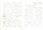 Allan Boyce Adams, Ringeu (Germany), to Mrs. Joel Randolph Adams, Claremont, Mississippi. March 3, 1919. by Allan Boyce Adams