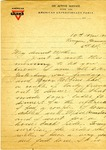 Allan Boyce Adams, Ringeu (Germany), to Mrs. Joel Randolph Adams, Claremont, Mississippi. March 10, 1919. by Allan Boyce Adams