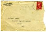 Joel Randolph Adams, Claremont, Mississippi, To Mrs. Joel Randolph Adams (Evie), Baptist Hospital, Memphis, Tennessee. April 11, 1922. by Joel Randolph Adams