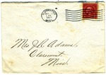 To Mrs. Joel Randolph Adams, Claremont, Mississippi. May 11, 1925. by Sender Unknown