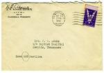 Rivers E. Adams, Clarksdale, Mississippi, To Mrs. Joel Randolph Adams, Baptist Hospital, Memphis, Tennessee. October 8, 1943.