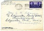 T.D. [Pollye] Myers, Washington D.C., to Mrs. Joel Randolph Adams, C/O Edgewater Gulf Hotel, Edgewater Park, Mississippi. July 19, [1946].