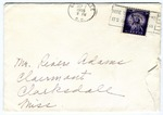 Miss Sara Lowrey, Greenville, South Carolina, To Mr. Rivers E. Adams, Claremont, Mississippi. September 7, 1955.