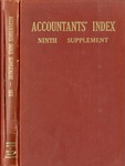 Accountants' index. Ninth supplement, a bibliography of accounting literature, January 1950-December 1950 (Inclusive) by American Institute of Accountants and Miriam W. Donnelly