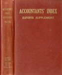 Accountants' index. Eleventh supplement, a bibliography of accounting literature, January 1953-December 1954 (Inclusive) by American Institute of Accountants and Katherine I. Michaelsen