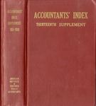 Accountants' index. Thirteenth supplement, a bibliography of accounting literature, January 1957-December 1958 (Inclusive) by American Institute of Certified Public Accountants and Katherine I. Michaelsen