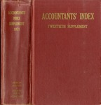 Accountants' index. Twentieth supplement, a bibliography of accounting literature, January 1971-December 1971 (Inclusive) by American Institute of Certified Public Accountants and Katherine I. Michaelsen