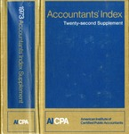Accountants' index. Twenty-second supplement, January-December 1973 by American Institute of Certified Public Accountants and Karen L. Hegge
