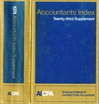 Accountants' index. Twenty-third supplement, January-December 1974 by American Institute of Certified Public Accountants and Karen Hegge Simmons