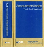 Accountants' index. Twenty-fourth supplement, January-December 1975 by American Institute of Certified Public Accountants and Jane Kubat