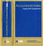 Accountants' index. Twenty-fifth supplement, January-December 1976 by American Institute of Certified Public Accountants and Jane Kubat