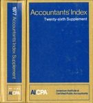 Accountants' index. Twenty-sixth supplement, January-December 1977, volume 1: A-L by American Institute of Certified Public Accountants and Jane Kubat
