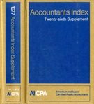 Accountants' index. Twenty-sixth supplement, January-December 1977, volume 2: M-Z by American Institute of Certified Public Accountants and Jane Kubat
