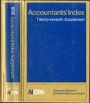 Accountants' index. Twenty-seventh supplement, January-December 1978, volume 1: A-L