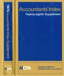 Accountants' index. Twenty-eighth supplement, January-December 1979, volume 1: A-L
