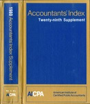 Accountants' index. Twenty-ninth supplement, January-December 1980, volume 1: A-L by Linda Pierce and American Institute of Certified Public Accountants