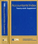 Accountants' index. Twenty-ninth supplement, January-December 1980, volume 2: M-Z by Linda Pierce and American Institute of Certified Public Accountants