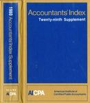 Accountants' index. Twenty-ninth supplement, January-December 1980, volume 2: M-Z