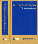 Accountants' index. Thirtieth supplement, January-December 1981, volume 2: M-Z by Linda C. Pierce and American Institute of Certified Public Accountants