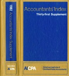 Accountants' index. Thirty-first supplement, January-December 1982, volume 2: M-Z by Linda C. Pierce and American Institute of Certified Public Accountants