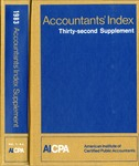 Accountants' index. Thirty-second supplement, January-December 1983, volume 1: A-L by Linda C. Pierce and American Institute of Certified Public Accountants