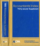 Accountants' index. Thirty-second supplement, January-December 1983, volume 2: M-Z by Linda C. Pierce and American Institute of Certified Public Accountants