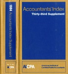 Accountants' index. Thirty-third supplement, January-December 1984, volume 1: A-L