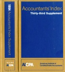Accountants' index. Thirty-third supplement, January-December 1984, volume 2: M-Z