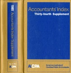 Accountants' index. Thirty-fourth supplement, January-December 1985, volume 2: M-Z