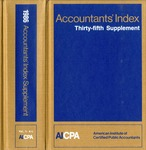 Accountants' index. Thirty-fifth supplement, January-December 1986, volume 1: A-L
