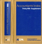 Accountants' index. Thirty-fifth supplement, January-December 1986, volume 2: M-Z