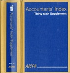 Accountants' index. Thirty-sixth supplement, January-December 1987, volume 1: A-L